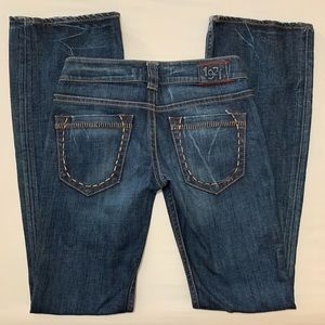 1921 Distressed Flare Jeans